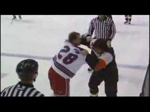 Colton Orr vs Riley Cote
