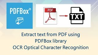 Extract text from PDF using PDFBox library OCR Optical Character Recognition