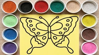 TOY FOR KIDS - Colored sand painting draws butterfly (Chim Xinh)