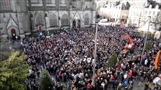 preview picture of video 'Rassemblement de soutien à Charlie Hebdo place Saint Corentin à Quimper'