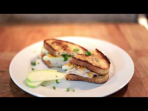 Grilled Cheese with Turkey and Chives