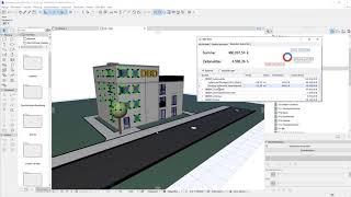 DBD-BIM Plug-in für ARCHICAD - Auswerten der Baukosten