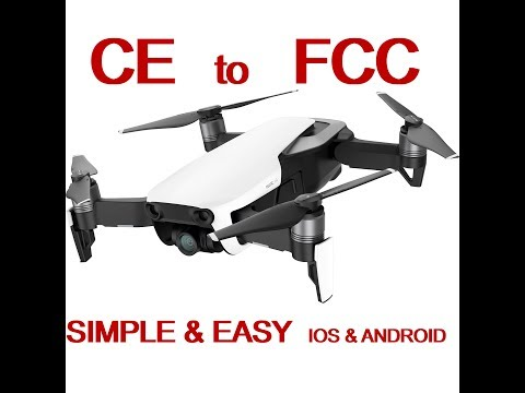 Force FCC mode on DJI Mavic Air FREE with Apple Mac & iPhone