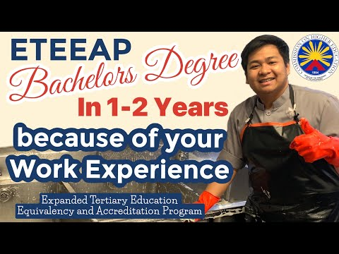ETEEAP- Earn your Bachelor Degree in just 1-2years. CHED Program