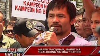 SONA: Manny Pacquiao, mainit na sinalubong ng mga pilipino
