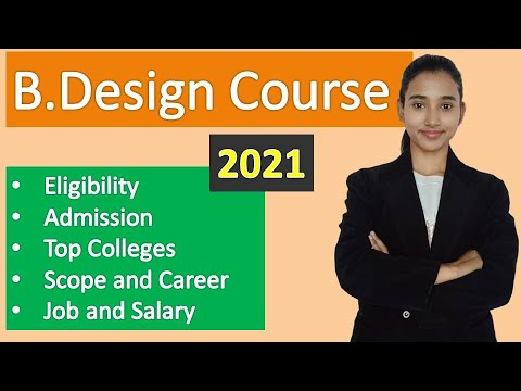 B Design Course, Bachelor of Design course details in Hindi