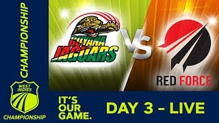 LIVE West Indies Championship 2018/19   Guyana vs T&T Red Force - Day 3