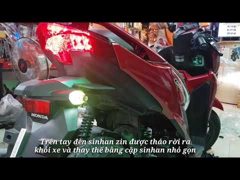 Honda Click Thái 2018 độ đèn Sinhan Multi Led gọn gàng hơn đèn sinhan zin