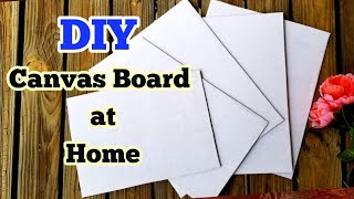 How To Make Canvas Board For Painting At Home | DIY Handmade Canvas Board