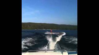 Wakeboarder FACE PLANTS