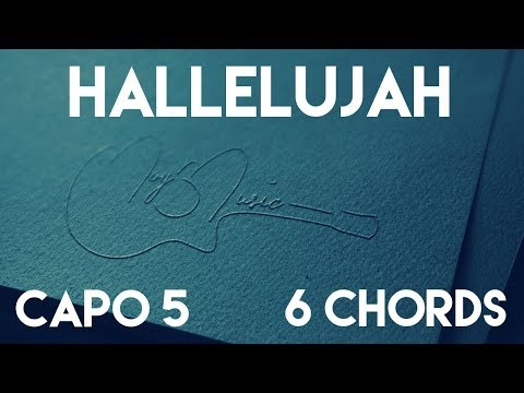 How To Play Hallelujah by L.A. Band | Capo 5 (6 Chords) Guitar Lesson