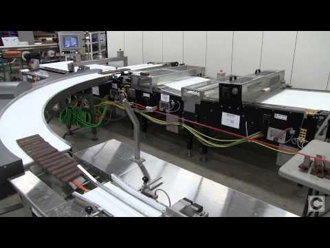 Campbell Product Distribution System for Chocolate Health Bars Campbell Wrapper - Horizontal Flow Wrappers
