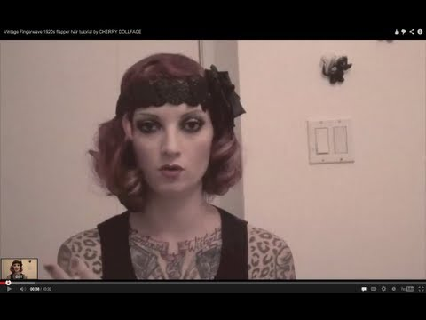 Great Gatsby Vintage Fingerwave 1920s Flapper Hair Tutorial By CHERRY DOLLFACE Mp3
