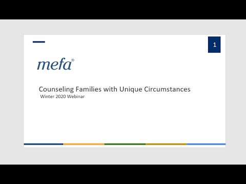 School Counselor Webinar Series: Counseling Families with Unique Circumstances