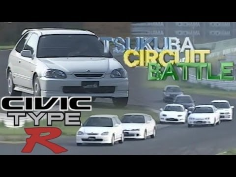 [ENG CC] Civic Type R Debut Battle - Integra R, FTO R, Impreza, Evo IV, Levin BZ-R In Tsukuba 1997