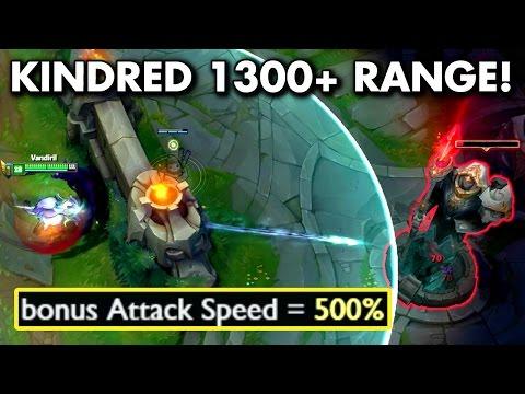新鏡爪被動 1300+ 攻擊距離  Q技能攻速加成500%
