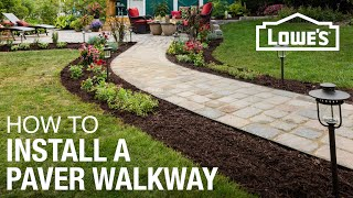 How to Design and Install a Paver Walkway - Video Youtube
