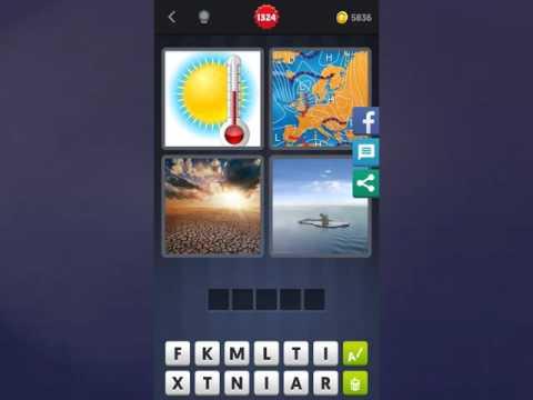 4 Bilder 1 Wort Lösung [Sonne + Thermometer, Karte, Landschaft, Wasser]