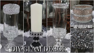 DIY EASY AND GLAM CANDLE HOLDERS | DIY DOLLAR TREE GLAM HOME DECOR FOR SPRING / SUMMER 2020