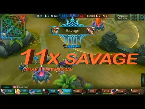NO CHEAT | Bruno 11x SAVAGE in 1 match | moba football | MOBILE LEGENDS