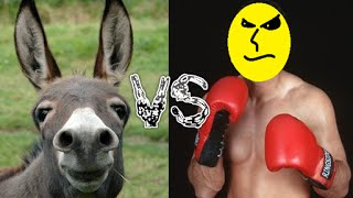 preview picture of video 'burro vs hombre'