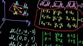 §41 Уравнение плоскости, проходящей через три данные плоскости фото