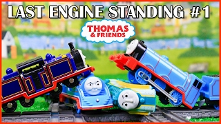 THOMAS AND FRIENDS TRACKMASTER LAST ENGINE STANDING #1 - DEMOLITION DERBY TOYS TRAIN FOR KIDS