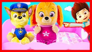 Paw Patrol Skye Chase In Real Life Bedtime Routine, Baby Bottles - Ellie Sparkles