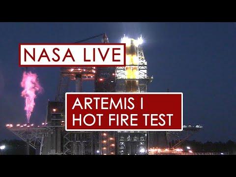 Test de l'étage principal du SLS 🚀 qui enverra des astronautes 👨🚀sur la Lune 🌘