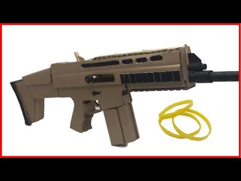 종이 박스로 배틀그라운드 연사 SCAR-L 고무줄총 만들기