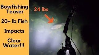 Lake Michigan Clear Water Bowfishing -- Giant Carp!!! **Teaser**