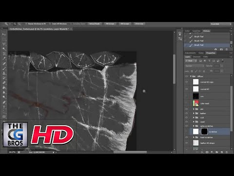 """CGI 3D Tutorial : """"Using Photoshop to Add Unique Scratches"""" – by  3dmotive"""