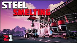 Automated Tractor Coal Delivery, and STEEL Smelting Has BEGUN! Satisfactory Ep.9 | Z1 Gaming