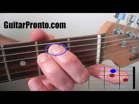 Basic guitar chords - 3 simple steps (A and E major)