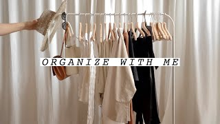 ORGANIZE WITH ME: Spring/Summer Clothing Rack