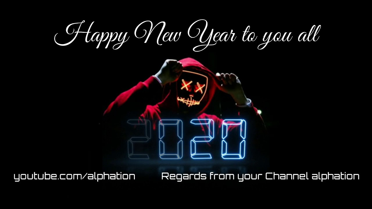 happy new year Avee player template