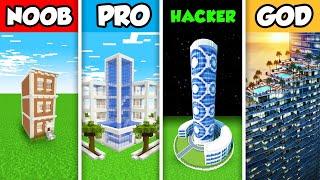 Minecraft Noob Vs Pro Vs Hacker Vs God Luxury Golden Mansion
