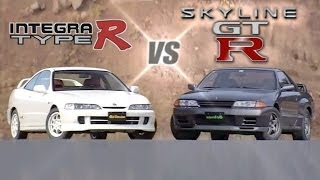 [ENG CC] FWD vs 4WD - Integra Type R DC2 200Hp vs Skyline R32 GT-R 280Hp HV24