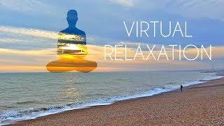 4K 360º Virtual Relaxation on Beach - LONG VR Video for Meditation