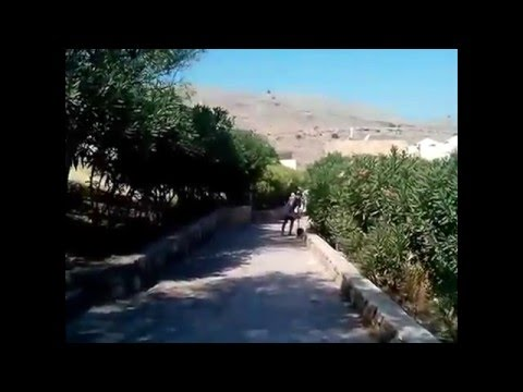 Город Линдос на Родосе  достопримечательности/The city of Lindos on Rhodes attractions