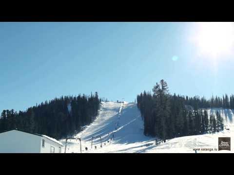 Видео: Видео горнолыжного курорта Горная Саланга в Кемеровская область