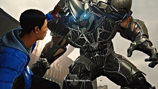 Spider-Man PS4 - Miles vs Rhino EPIC Boss Fight (Spiderman 2018) PS4 Pro
