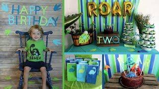 Ashers 2nd Birthday Party | Dinosaur Themed | Birthday Boy Party Ideas! |Vlog|