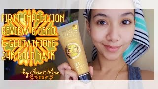 First Impression, Review & Demo: L-Glutathione 24K Gold Mask | IkinMan