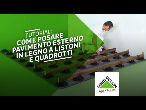 Come posare un pavimento in legno su basi regolabili - Leroy Merlin