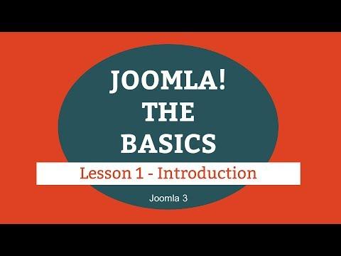 Joomla 3 Tutorial - Lesson 01 - Introduction