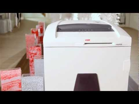 Video of the HSM SECURIO P44 HS-5 + OMDD Cutter Shredder