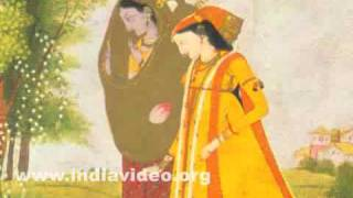 The exchange of clothes by Krishna and Radha