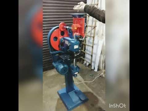 Single Head Eyelet Punching Machine