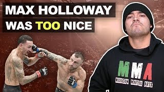 Alexander Volkanovski vs Max Holloway Was a Little TOO Friendly